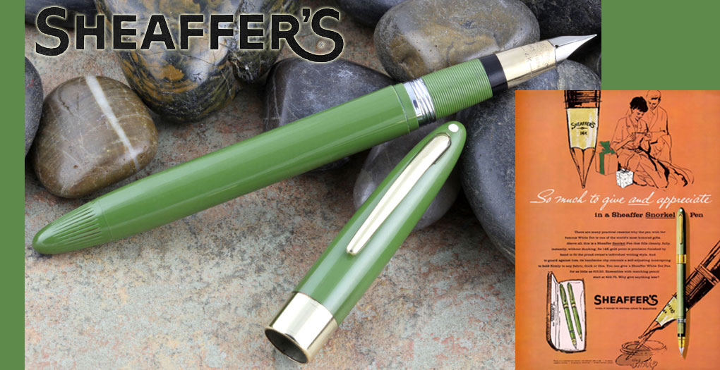 Sheaffer Snorkel, Fern Green 1957-c1959