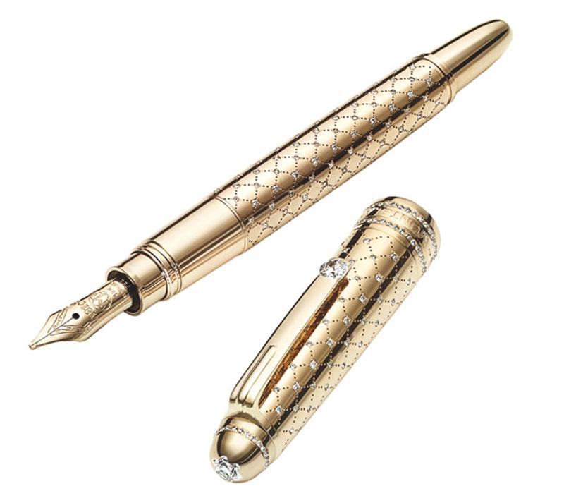 Cheapest Montblanc Meisterstuck Precious Metals & Diamonds Replica Pen On  Sale